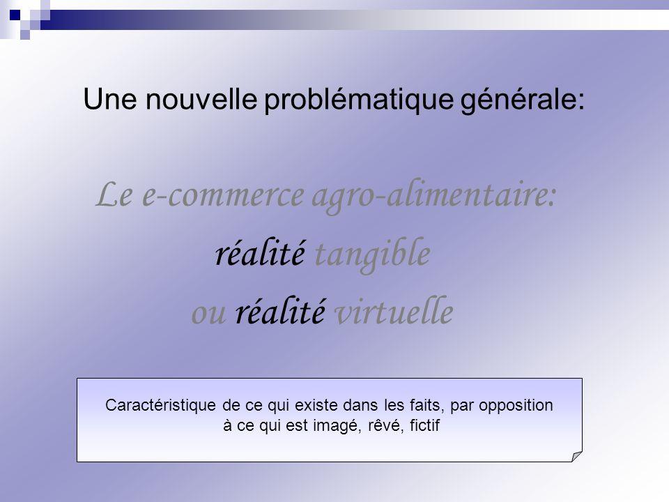 Le e-commerce agro-alimentaire: réalité tangible ou réalité virtuelle Une nouvelle problématique générale: Caractéristique de ce qui existe dans les f