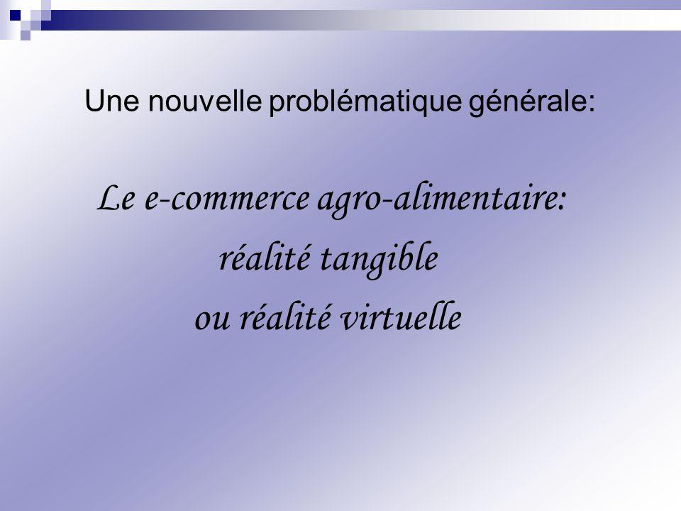Le e-commerce agro-alimentaire: réalité tangible ou réalité virtuelle Une nouvelle problématique générale: