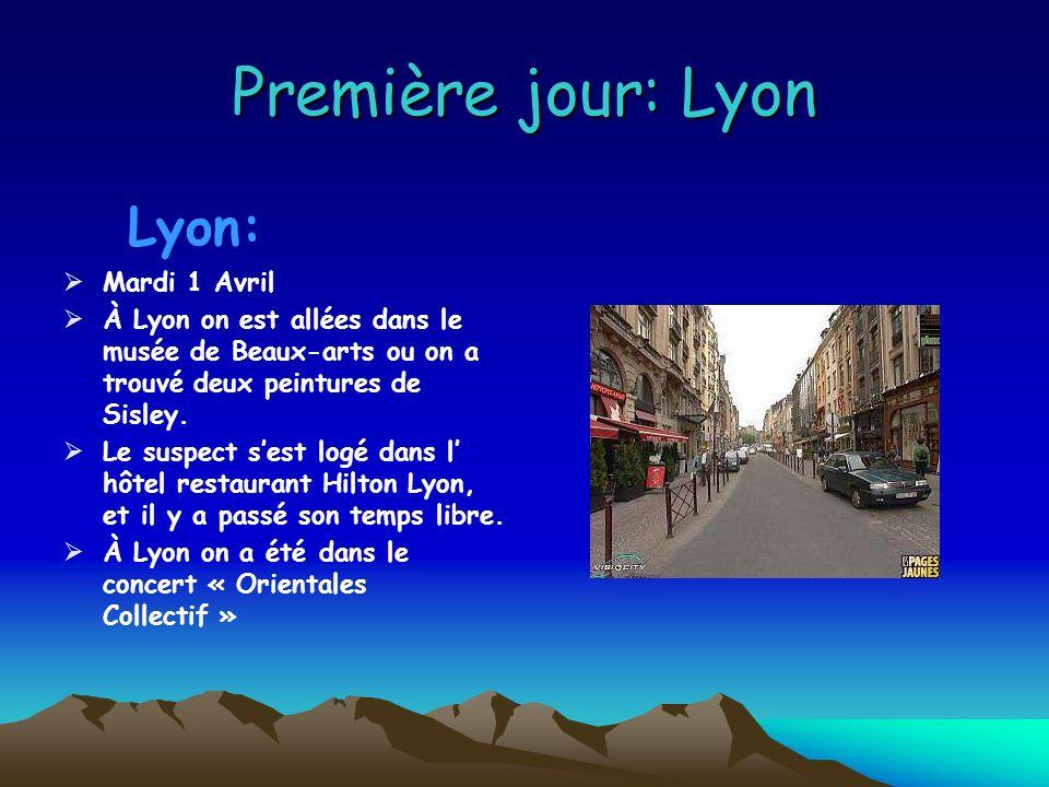 Itinéraire On a suivi le suspect dans tout son itinéraire dans les musées de France et nous nous sommes logées dans les mêmes hôtels et restaurants que le suspect.