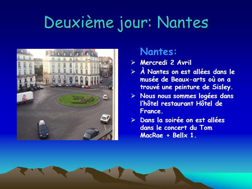 Deuxième jour: Nantes Nantes: Mercredi 2 Avril À Nantes on est allées dans le musée de Beaux-arts où on a trouvé une peinture de Sisley.