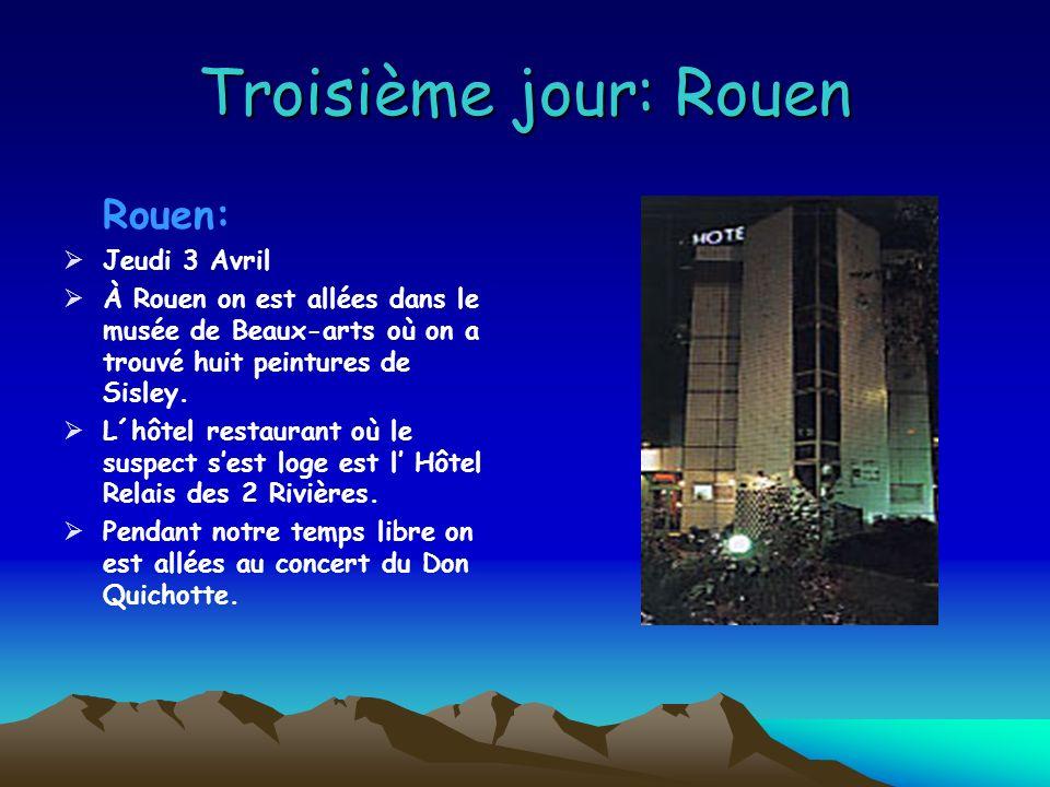 Troisième jour: Rouen Rouen: Jeudi 3 Avril À Rouen on est allées dans le musée de Beaux-arts où on a trouvé huit peintures de Sisley.
