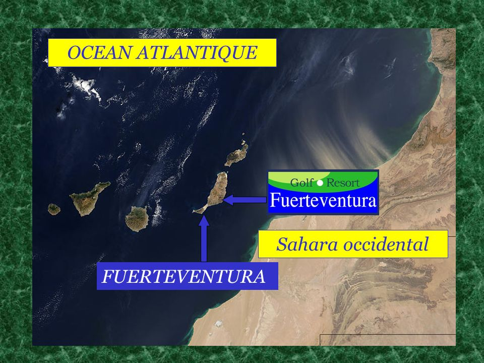 Sahara occidental OCEAN ATLANTIQUE FUERTEVENTURA