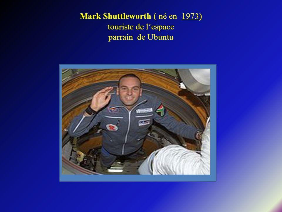 Mark Shuttleworth ( né en 1973) touriste de lespace parrain de Ubuntu