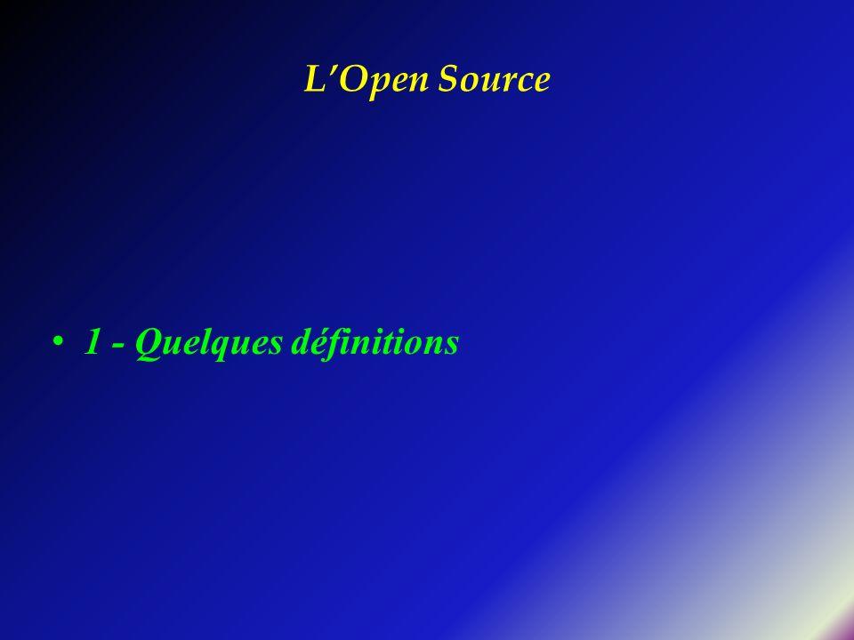 LOpen Source 1 - Quelques définitions