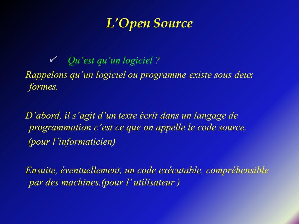 Quest quun logiciel ? Rappelons quun logiciel ou programme existe sous deux formes. Dabord, il sagit dun texte écrit dans un langage de programmation