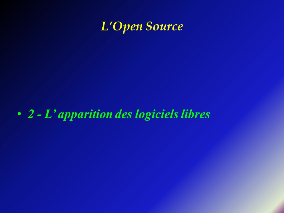 Quelques sites utiles Suites OpenOffice.org, KOffice, Gnome Office PAO Scribus, Lyx http://www.gnu.org/gnu/gnu.fr.html Listes d équivalences logicielles : http://frimouvy.udev.org/formation http://gnuwin.epfl.ch/fr/equivalents.html http://home.alex.tuxfamily.org/guide/migrateur.html#corresp http://linuxshop.ru/linuxbegin/win-lin-soft-en http://www.cutthecrap.co.za/paul.html http://alts.homelinux.net/ http://www.linux-nantes.org/DOC/liste-equivalences- logicielles.html#innavi