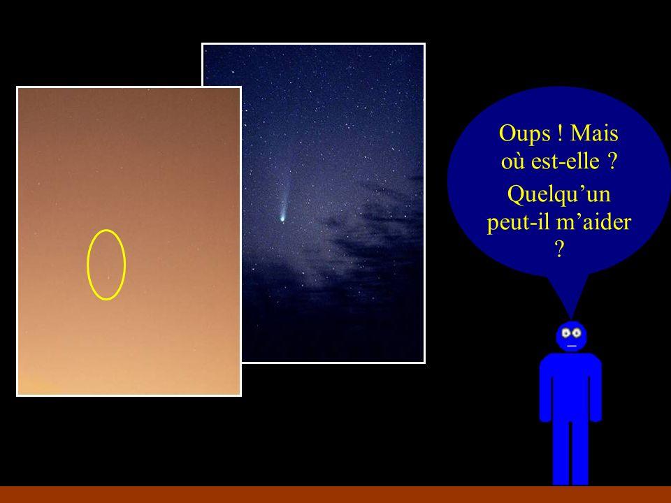 En voilà une jolie comète.Que se passe- t-il avec trop de lumière .