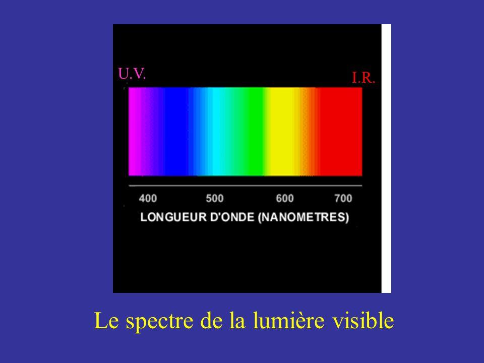 Le spectre de la lumière visible I.R. U.V.