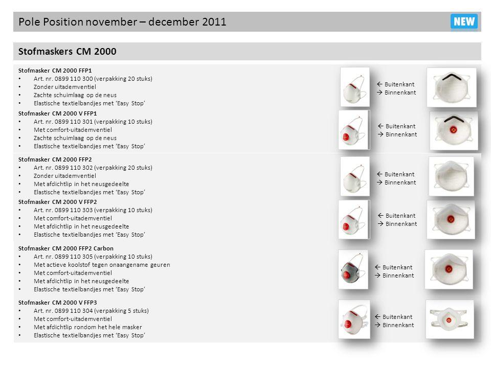 Stofmasker CM 2000 V FFP1 Art. nr. 0899 110 301 (verpakking 10 stuks) Met comfort-uitademventiel Zachte schuimlaag op de neus Elastische textielbandje