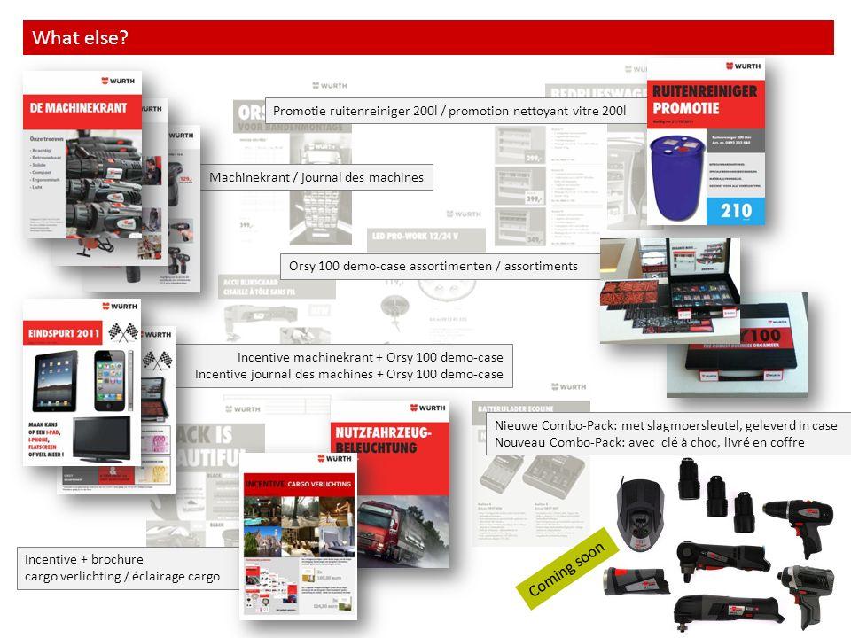Orsy 100 demo-case assortimenten / assortiments Incentive + brochure cargo verlichting / éclairage cargo Incentive machinekrant + Orsy 100 demo-case I