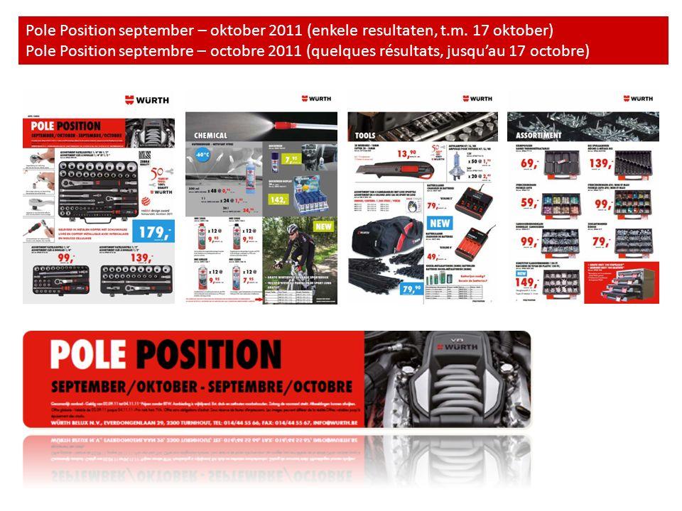 Pole Position september – oktober 2011 (enkele resultaten, t.m. 17 oktober) Pole Position septembre – octobre 2011 (quelques résultats, jusquau 17 oct