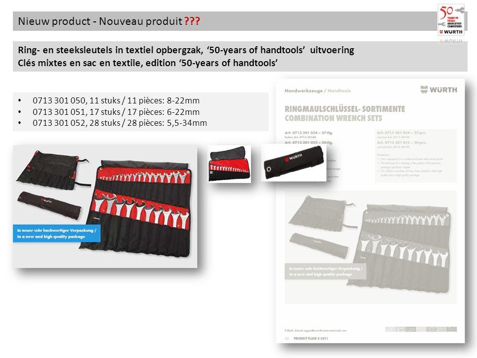 Nieuw product - Nouveau produit ??? Ring- en steeksleutels in textiel opbergzak, 50-years of handtools uitvoering Clés mixtes en sac en textile, editi
