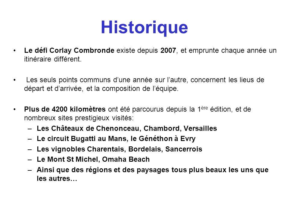 Historique Le défi Corlay Combronde existe depuis 2007, et emprunte chaque année un itinéraire différent. Les seuls points communs dune année sur laut