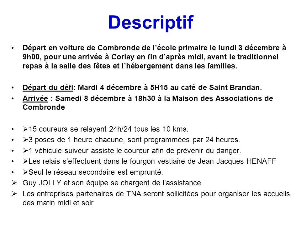 Descriptif Départ en voiture de Combronde de lécole primaire le lundi 3 décembre à 9h00, pour une arrivée à Corlay en fin daprès midi, avant le tradit