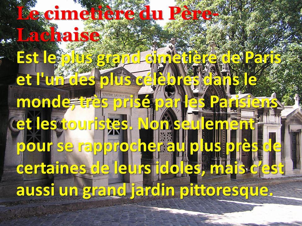 Le plus grand cimetière de Paris et aussi le cimetière des célébrités.
