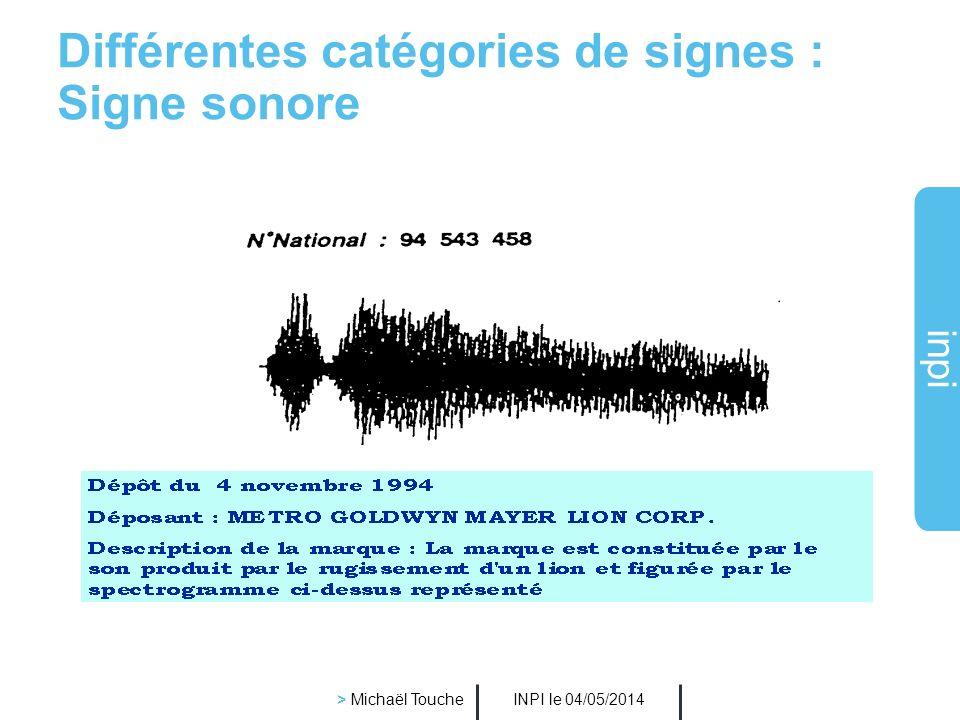 inpi INPI le 04/05/2014 > Michaël Touche Différentes catégories de signes : Forme du conditionnement