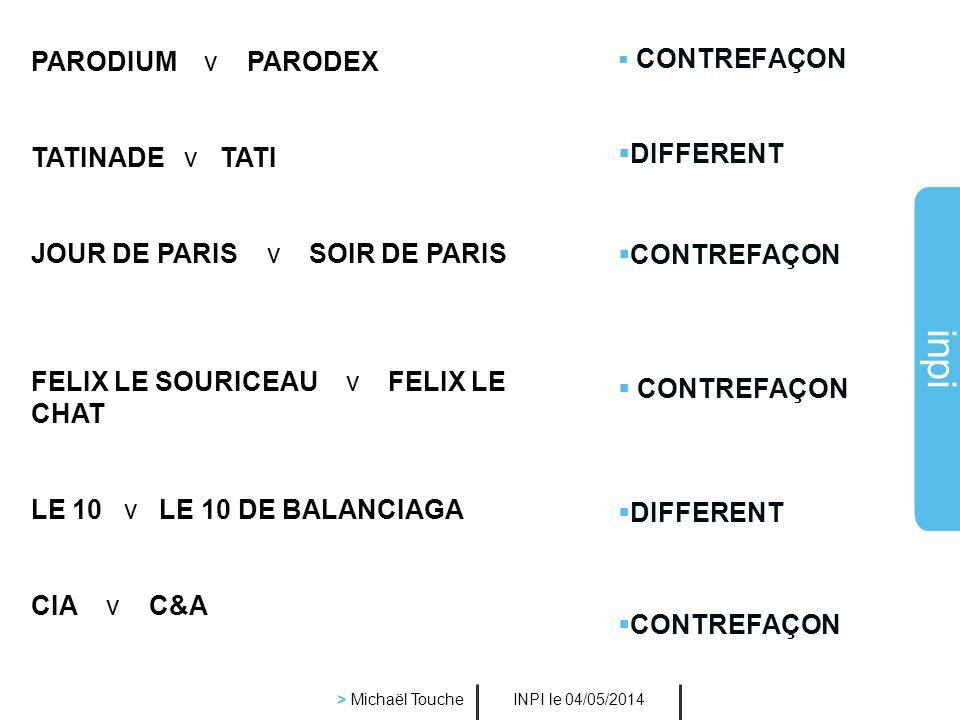 inpi INPI le 04/05/2014 > Michaël Touche Lintérêt des recherches de similarités Il est très important de les faire car la marque est : non seulement p