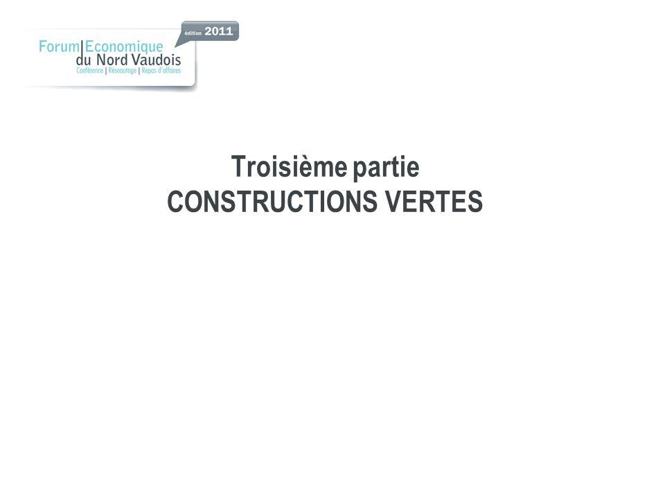 Troisième partie CONSTRUCTIONS VERTES