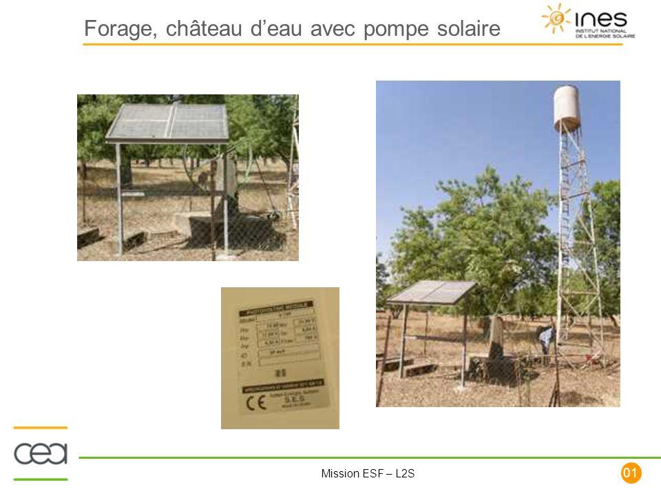 101 Mission ESF – L2S Forage, château deau avec pompe solaire
