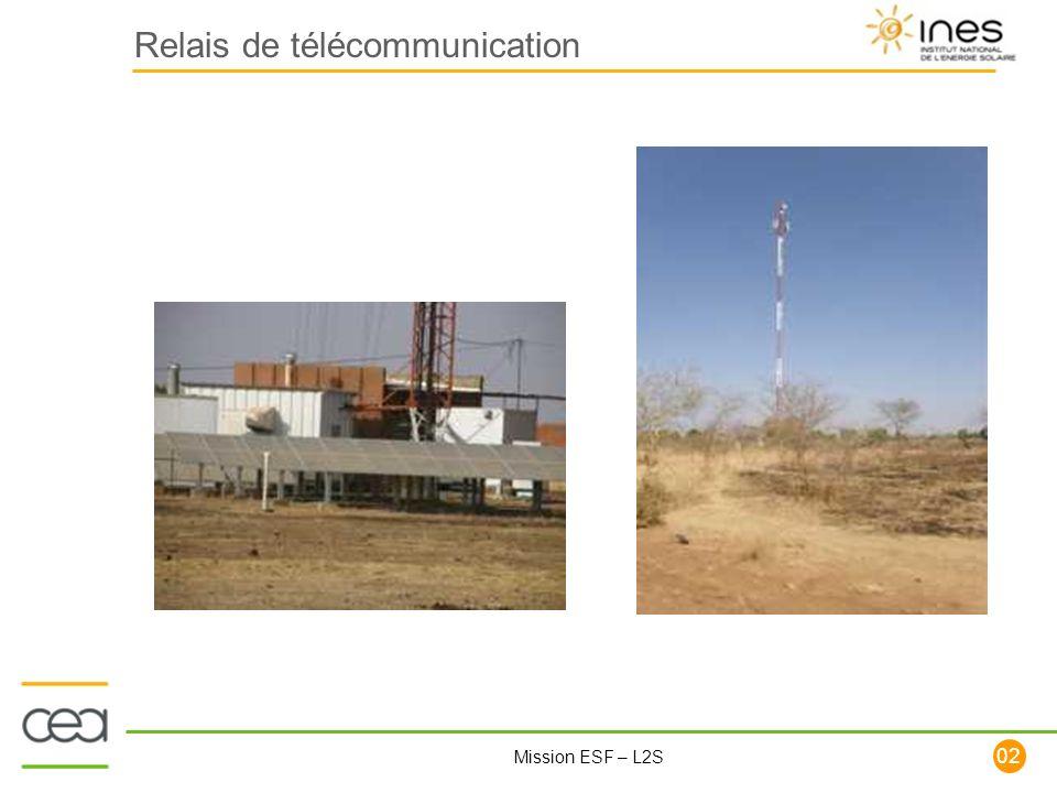 102 Mission ESF – L2S Relais de télécommunication