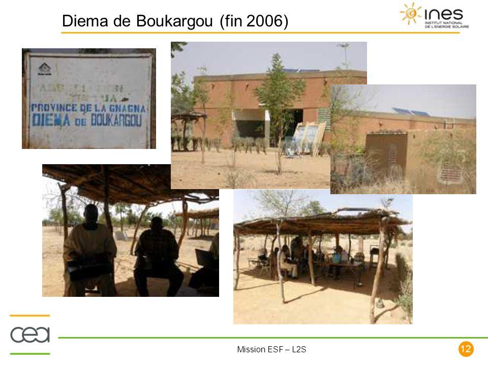 12 Mission ESF – L2S Diema de Boukargou (fin 2006)