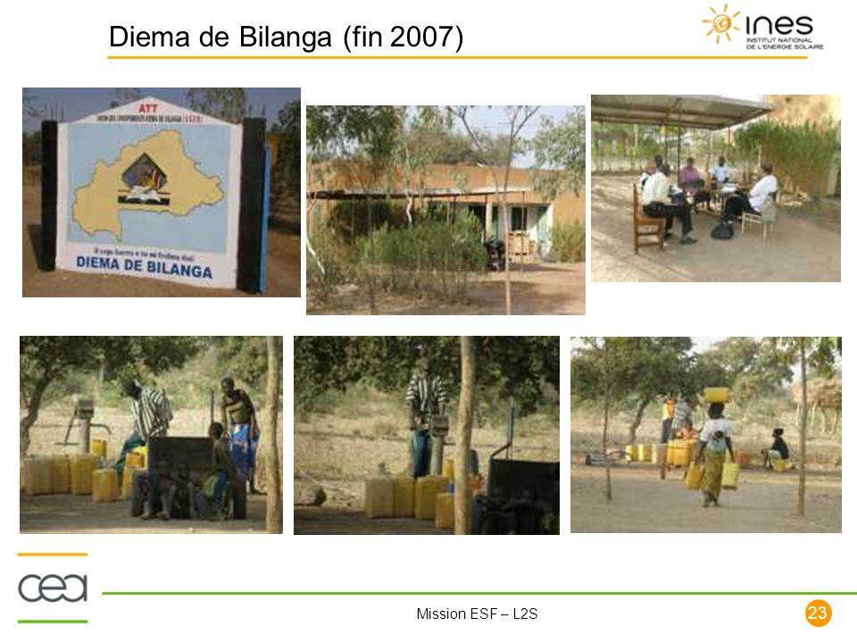 23 Mission ESF – L2S Diema de Bilanga (fin 2007)