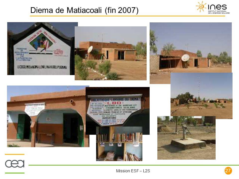 27 Mission ESF – L2S Diema de Matiacoali (fin 2007)