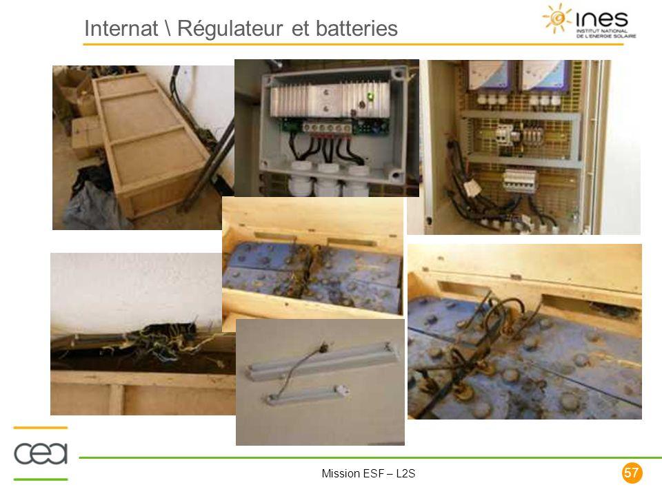57 Mission ESF – L2S Internat \ Régulateur et batteries