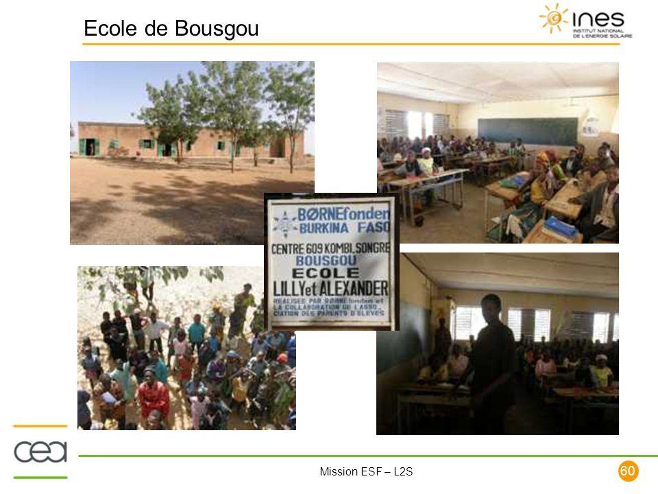 60 Mission ESF – L2S Ecole de Bousgou