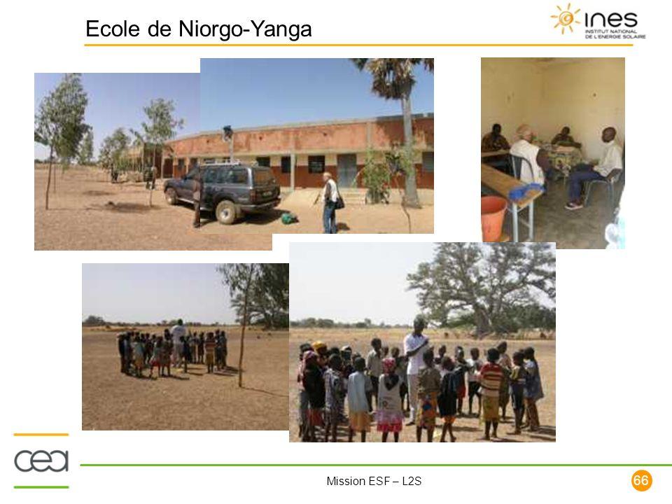 66 Mission ESF – L2S Ecole de Niorgo-Yanga