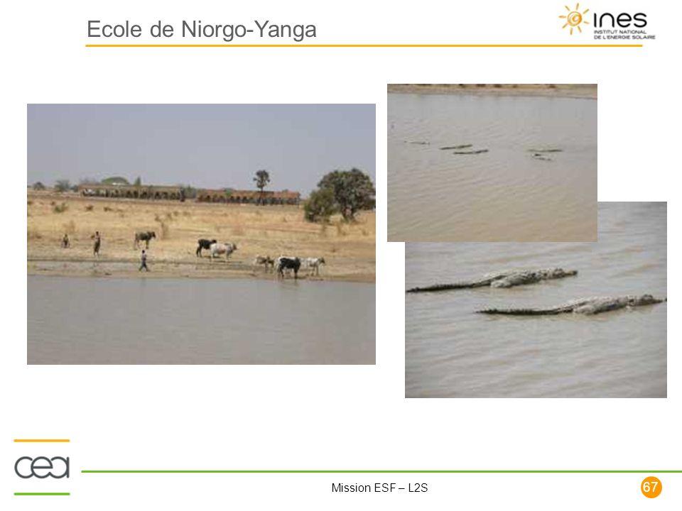 67 Mission ESF – L2S Ecole de Niorgo-Yanga