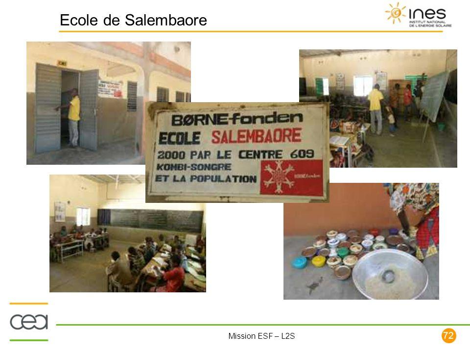 72 Mission ESF – L2S Ecole de Salembaore