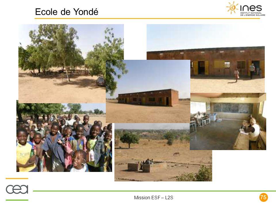75 Mission ESF – L2S Ecole de Yondé