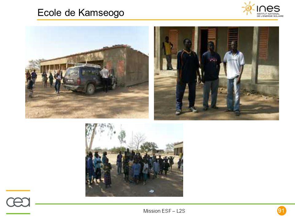 91 Mission ESF – L2S Ecole de Kamseogo