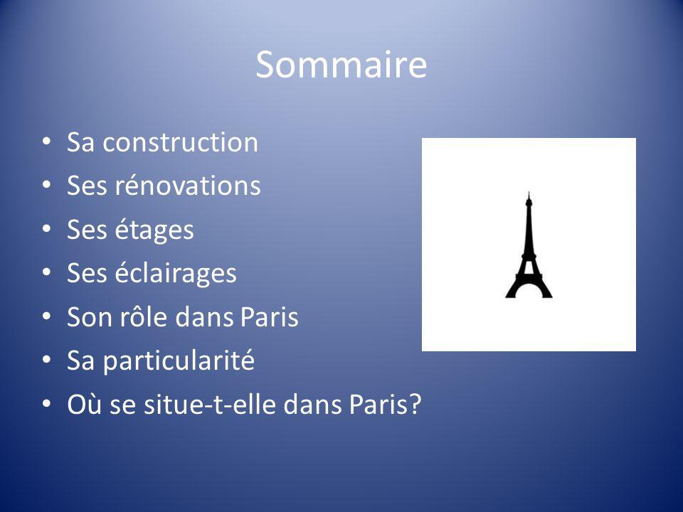Sa construction Pour un concours (lexposition universelle), le 31 mars 1889 Gustave Eiffel voulait une tour de plus de 300m de hauteur .