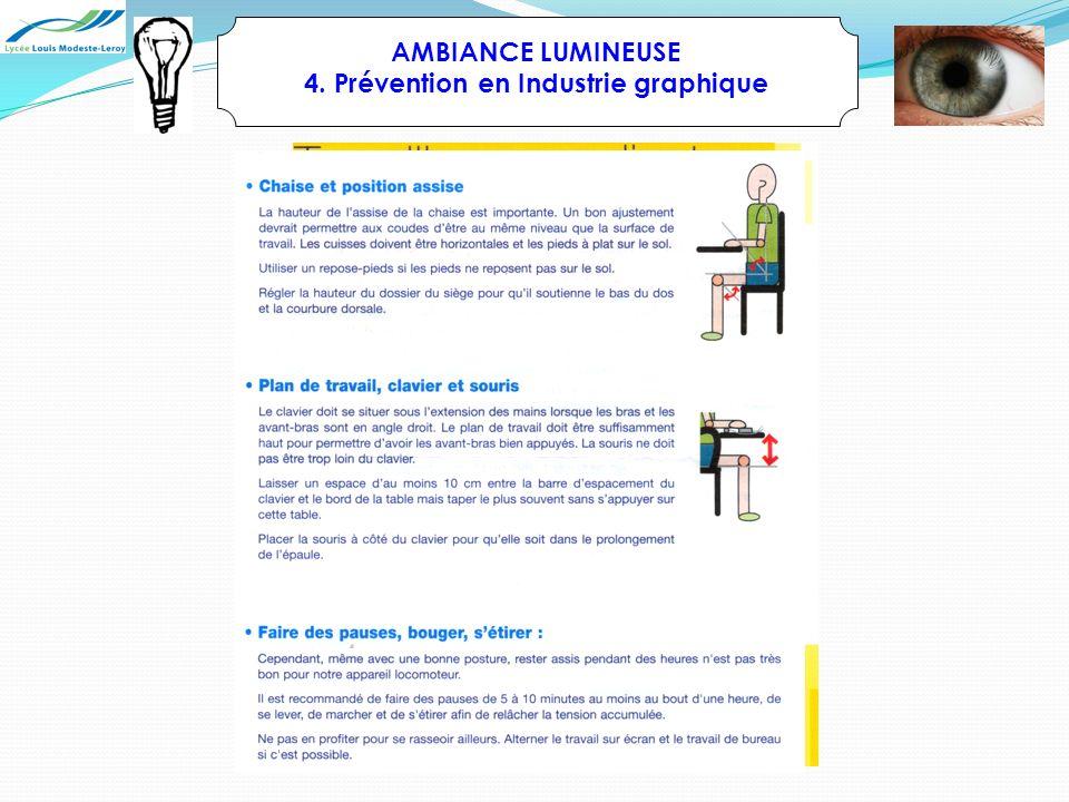 AMBIANCE LUMINEUSE 4. Prévention en Industrie graphique