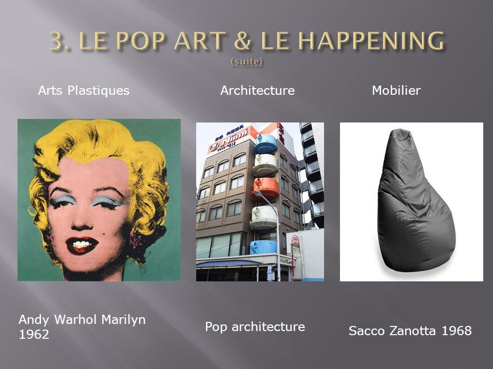Arts PlastiquesArchitectureMobilier Andy Warhol Marilyn 1962 Pop architecture Sacco Zanotta 1968