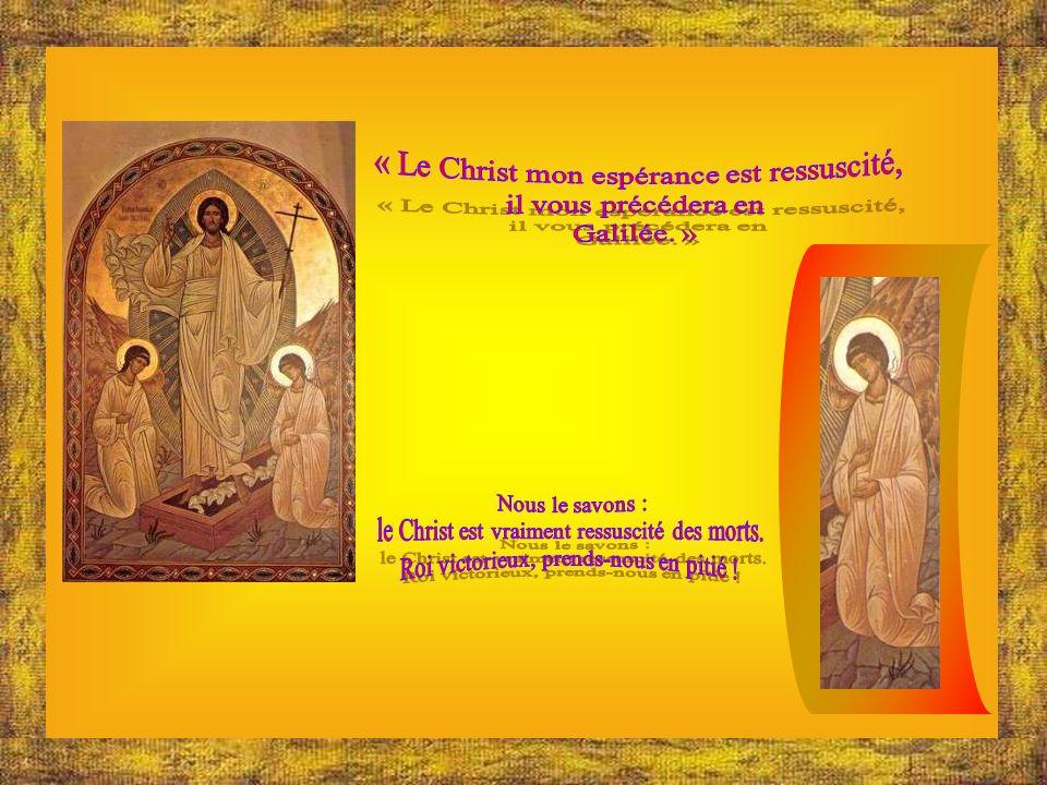 LAgneau a racheté les brebis ; le Christ Jésus innocent a réconcilié les pécheurs avec le Père. Le Maître de la vie mourut ; vivant il règne. « Dis-no