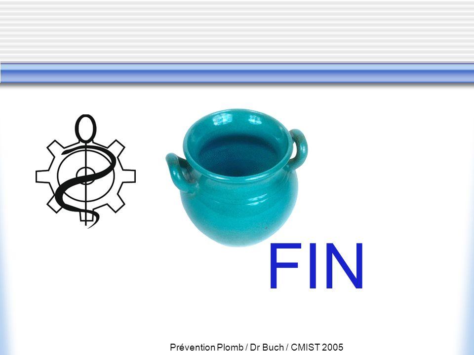 Prévention Plomb / Dr Buch / CMIST 2005 FIN
