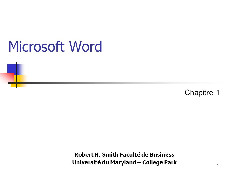 1 Microsoft Word Robert H.