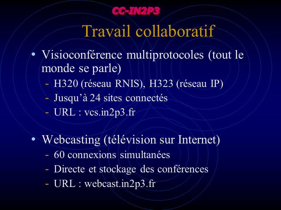 Travail collaboratif Visioconférence multiprotocoles (tout le monde se parle) - H320 (réseau RNIS), H323 (réseau IP) - Jusquà 24 sites connectés - URL