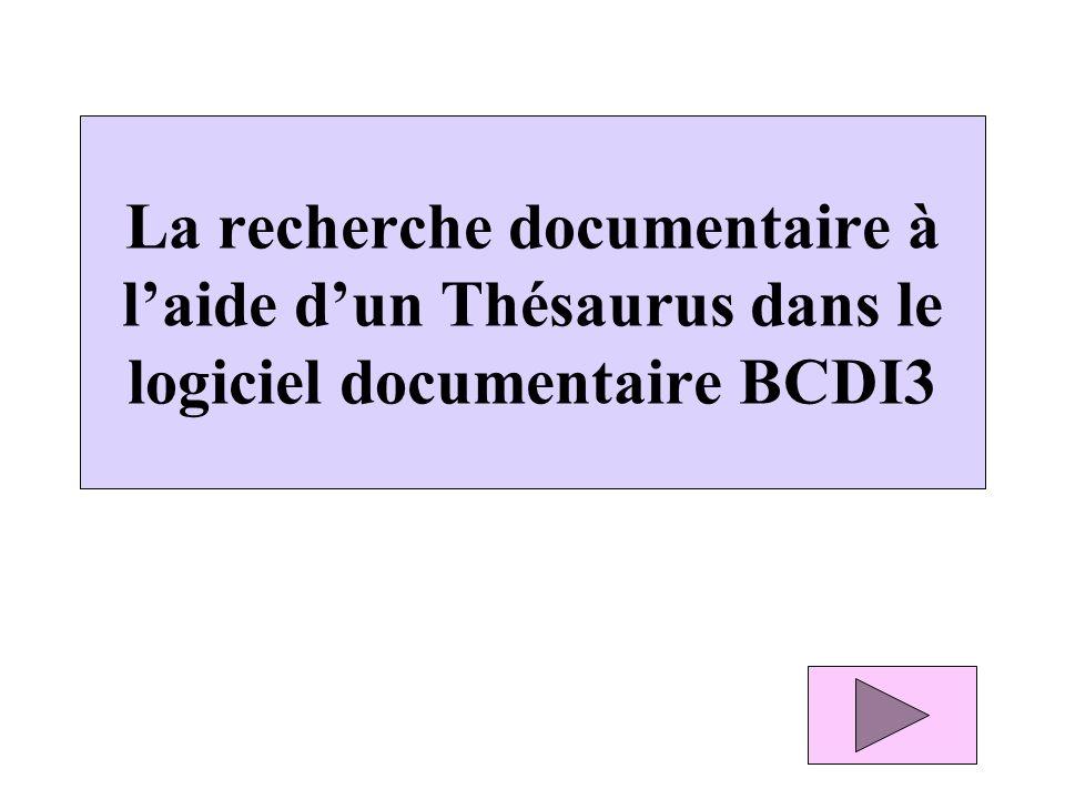 1 - La notion de Thésaurus