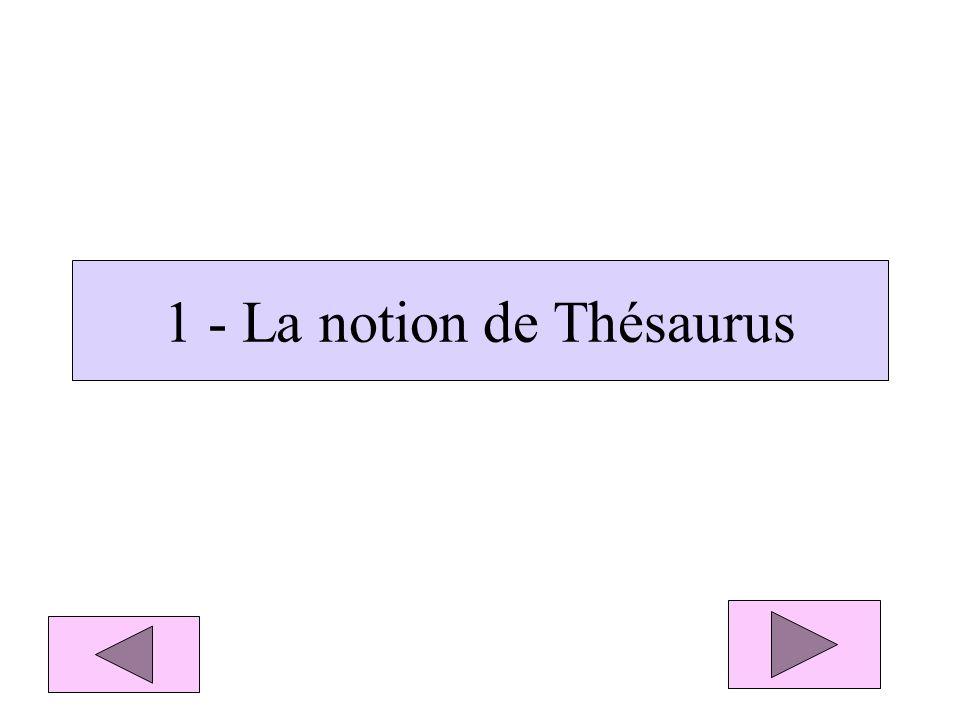 Écran 1 de recherche de BCDI3 Onglet du Thésaurus Bouton : lancer La recherche Supports