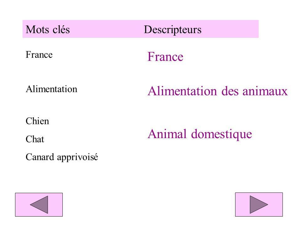 Exemple : animal Descripteur