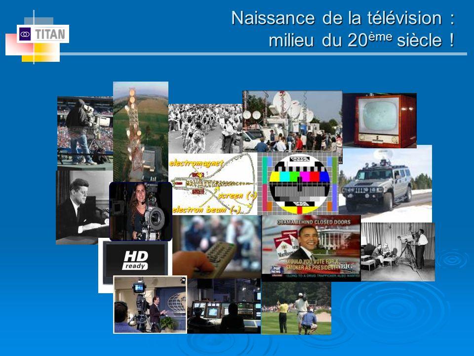 Naissance de la télévision : milieu du 20 ème siècle !