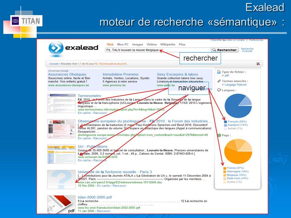 rechercher Exalead moteur de recherche «sémantique» : naviguer