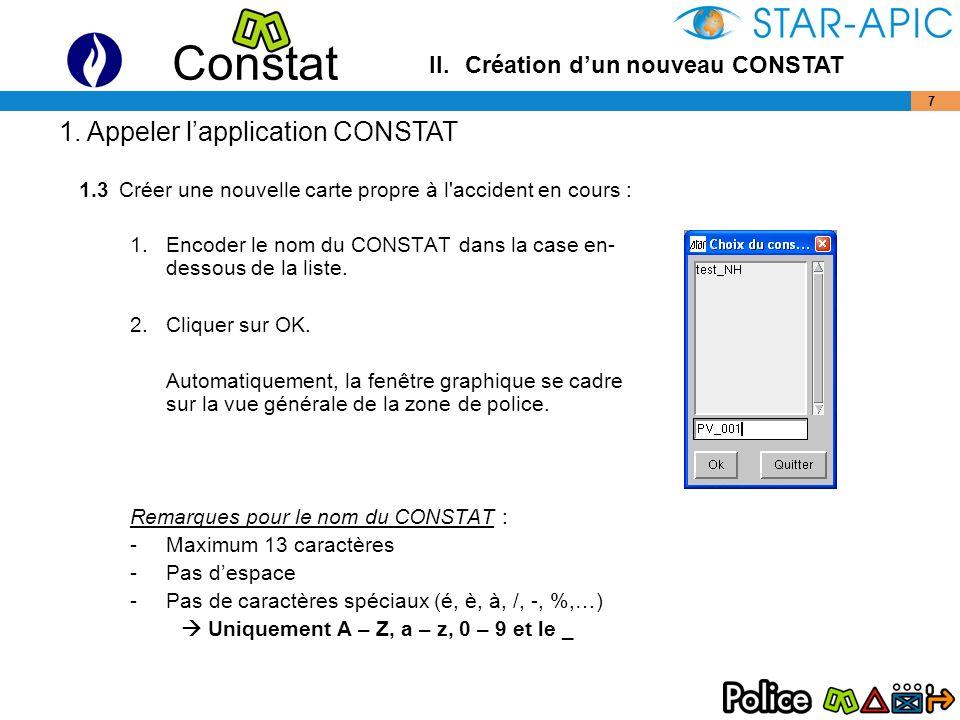 Constat 18 –Véhicules (par 3 points) : Cliquer sur l icône Le catalogue des objets s affiche.