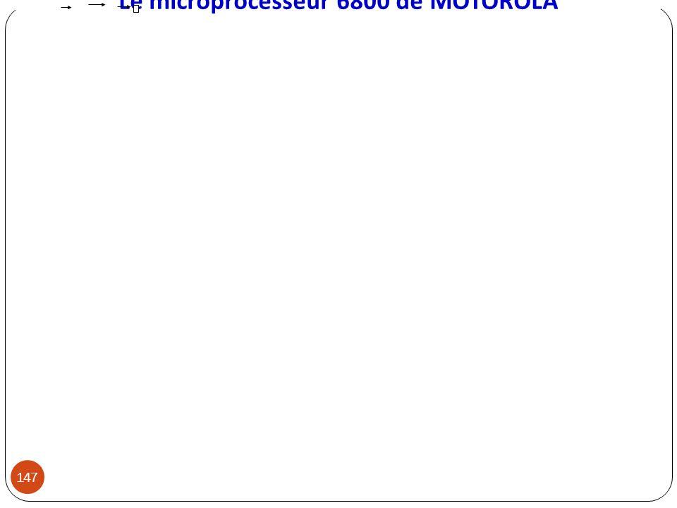 Le microprocesseur 6800 de MOTOROLA 147