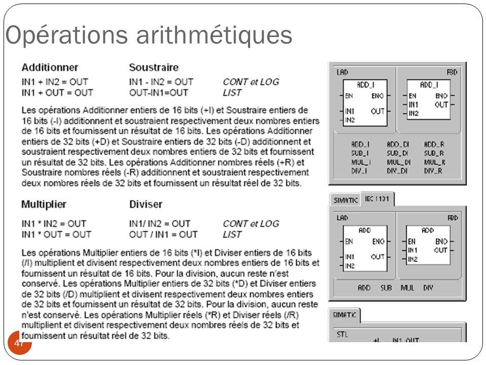 47 Opérations arithmétiques