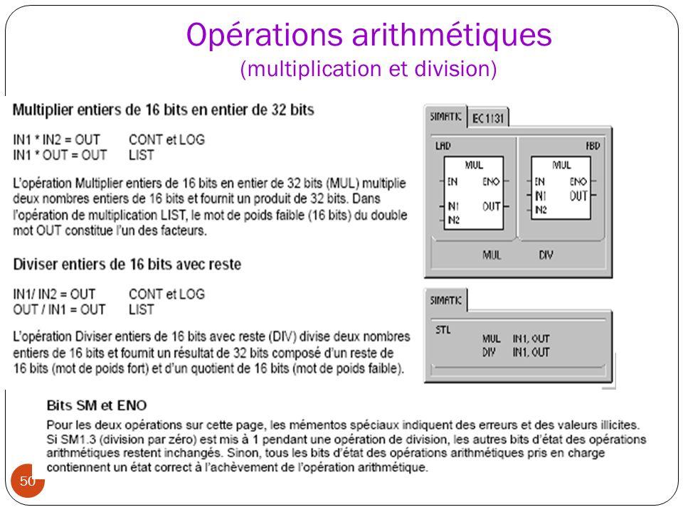 50 Opérations arithmétiques (multiplication et division)
